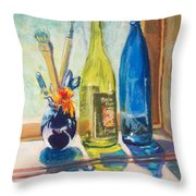 Light And Bottles Throw Pillow