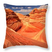Light And Dark At The Wave Throw Pillow