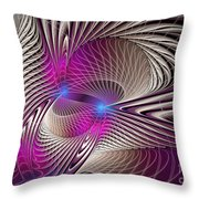 Light And Lines Throw Pillow