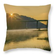 Light And Mist Throw Pillow