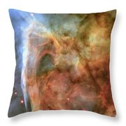 Light And Shadow In The Carina Nebula Throw Pillow