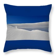 Light And Shadow On The Snow  Throw Pillow