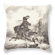 Light Artillery Officer Of The  Imperial Guard (officier D'artillerie Legerie De La  Garde Imperiale) Throw Pillow