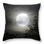 Light Behind The Clouds Throw Pillow