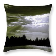 Light Blast In Evening Throw Pillow
