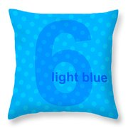 Light Blue Angel Throw Pillow