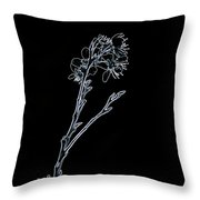 Light Blue Blooming Branch In Prayer Throw Pillow