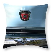 Light Blue Ford Pickup Throw Pillow