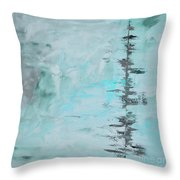 Light Blue Gray Abstract Throw Pillow