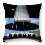 Light Blue Guitar 13 Throw Pillow
