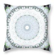 Light Blue Mandala- Art By Linda Woods Throw Pillow