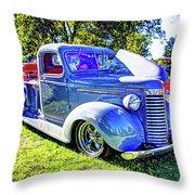 Light Blue Pickup  Throw Pillow