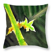 Light Branch Throw Pillow