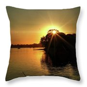 Light Break Through At Sundown Throw Pillow