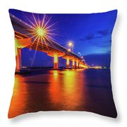 Light Bridge Throw Pillow