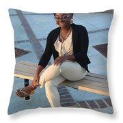 Light Brown 3 Throw Pillow