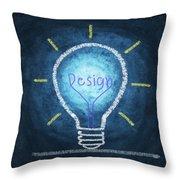 Light Bulb Design Throw Pillow