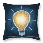 Light Bulb Design Throw Pillow by Setsiri Silapasuwanchai