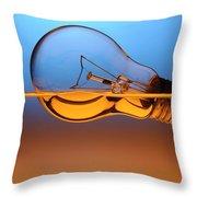 Light Bulb In Water Throw Pillow