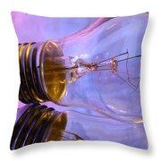 Light Bulb - Multi Color Throw Pillow