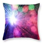 Light Burst-5 Throw Pillow