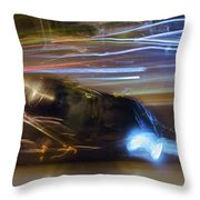 Light Car   Carrosse De Lumiere Throw Pillow