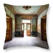 Light Come In - Deserted Castle Throw Pillow