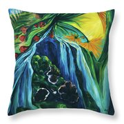 Light Dawns On A Floating World Throw Pillow