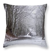Light Dusting Of Snow Throw Pillow