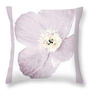 Light Dusty Lavender Poppy Throw Pillow