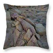 Light Fading On Valley Of Fire Throw Pillow