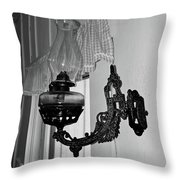 Light From The Past B W Throw Pillow