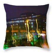 Light Ghosts Throw Pillow