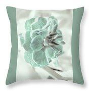 Light Green Blossom Throw Pillow