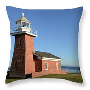 Light House At Santa Cruz Throw Pillow