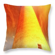 Light House At Sunset, Cape May, Nj Throw Pillow