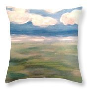 Light House By The Sea Throw Pillow