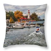 Light House Mississauga Throw Pillow