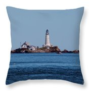 Light House On The Rocks Throw Pillow