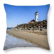 Light House - Port Townsend, Wa Throw Pillow