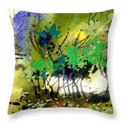Light In Trees Throw Pillow