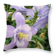Light Lavender Flowers Throw Pillow
