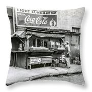 Light Lunch - Hot Dogs - Coca Cola Throw Pillow