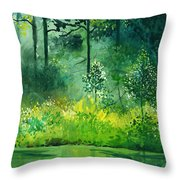 Light N Greens Throw Pillow