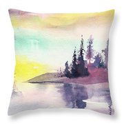 Light N River Throw Pillow