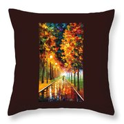 Light Of Autumn Throw Pillow
