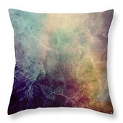 Light Of Life Abstract Painting Throw Pillow