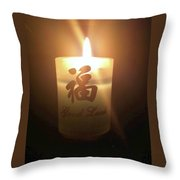 Light Of Luck Throw Pillow