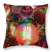 Light Of Man Multidimentional Sight Throw Pillow by Joseph Mosley