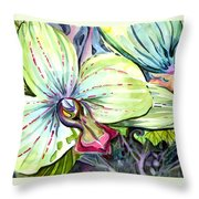 Light Of Orchids Throw Pillow